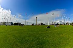 Plymouth Hoe (Dafydd Penguin) Tags: city uk england west town seaside nikon memorial war britain d country navy plymouth armada flags victory fisheye spanish coastal devon 600 how af nikkor drake 16mm f28 royaol