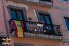 Bandera de España en apoyo a la Selección Española de Futbol en el Mundial de Brasil 2014 en  un balcon de la Calle Eusebio Gonzalez Abascal de Oviedo, Asturias. España (RAYPORRES) Tags: españa asturias bandera oviedo junio 2014 principadodeasturias calleeusebiiogonzalezabascal