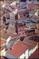 Rooftops and alleys (Joo Paulo Figueiredo) Tags: city urban classic film portugal glass analog 35mm vintage lens prime nikon rooftops superia negative roll tele fujifilm mf 100 analogue 135 nikkor f18 18 50 legacy manualfocus f28 ai birdseye 135mm fujicolor fe2 castelodevide jpfigueiredo camerascanned nikon135mmf28ai dslrfilmscan filmscannedwithadslr