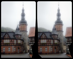 Saiger-Turm in Stolberg i. Harz 3-D ::: DRi Cross-View Stereoscopy (Stereotron) Tags: 3d 3dphoto 3dstereo 3rddimension spatial stereo stereo3d stereophoto stereophotography stereoscopic stereoscopy stereotron threedimensional stereoview stereophotomaker stereophotograph 3dpicture 3dglasses 3dimage crosseye crosseyed crossview xview cross eye pair freeview sidebyside sbs kreuzblick canon eos 550d chacha singlelens kitlens 1855mm tonemapping hdr hdri raw cr2 availablelight europe germany sachsenanhalt saxonyanhalt harz mountains gebirge stolberg quietearth architecture gothic gotik fachwerk halftimbered house stud work antiquated ancient medieval middleages deutschefachwerkstrase saigerturm beautiful ostfalen ostfalia hardt hart hercynia harzgau 100v10f