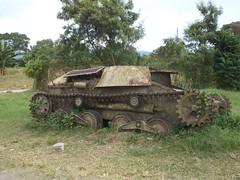 Type 95 Ha Go Tank<br />Is now displayed at Kokopo War Museum