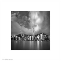 Hong Kong Waterfront (Ian Bramham) Tags: sunlight clouds hongkong dawn skyscrapers photograph victoriaharbour ianbramham