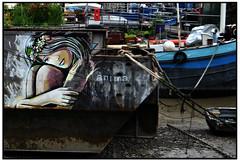 ALICE ON THE THAMES (StockCarPete) Tags: streetart thames river boat alice riverthames londonstreetart alicepasquini
