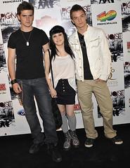 Gonzalo, Angy y Álex en el concierto de Pignoise