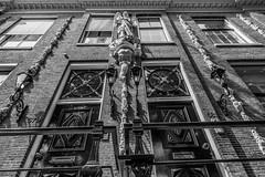 (McQuaide Photography) Tags: blackandwhite bw holland building netherlands monochrome amsterdam architecture canon eos blackwhite europe nederland wideangle dslr gebouw uwa wideanglelens ultrawideangle 100d 1018mm mcquaidephotography