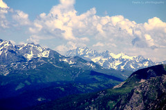In Mountains (grce) Tags: sky snow mountains nature clouds landscape russia caucasus
