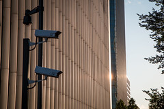 IMG_0097 (Zefrog) Tags: uk sunset london surveillance cctv canarywharf zefrog