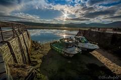 Dry Dock (chrispenfold) Tags: wales sunrise boats island flooding flood tide low shell plain stranded tidal gwynedd llanbedr