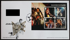 David Bowie Live - Royal Mail Mini sheet FDC (Darren...) Tags: fdc stamps david bowie live