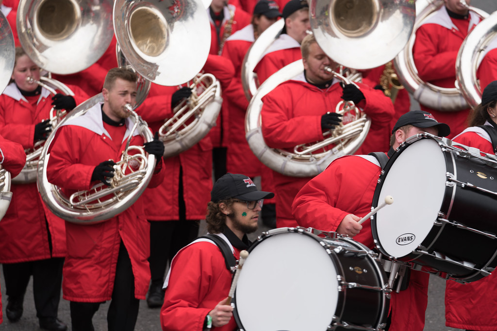 Illinois State University's Big Red Marching Machine [St. Patricks Parade 2017]-125855
