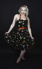 Take a bow. (Darren Flinders) Tags: vintage model femalemodel studioshot blondehair blueeyes demure lady gorgeous beautiful