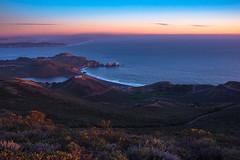 Marin Headlands Sunset (ben_leash (Back May 15th)) Tags: blue sunset landscape california sanfrancisco marincounty marin northerncalifornia bayarea ocean pacificocean sea lagoon beach rodeobeach