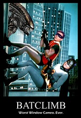 BATMAN 1966 / ALIEN : Worst Window Cameo...Ever (DarkJediKnight) Tags: batman alien xeno xenomorph robin burtward adamwest batclimb cameo humor parody spoof