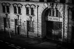 Manchester Fire station (Tam Bernard) Tags: manchester fire station blackandwhite bw streetphotography structure architecture arch canon canon5d 5dii mkii 5d2 1740mm 1740 low light mono mancs city uk england building classic old vintage piccadilly up north madchester emergency service beautiful art tam bernard photography