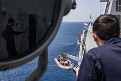 170327-N-JH293-014 (U.S. Pacific Fleet) Tags: ussgb greenbay ussgreenbay lpd20 japan sasebo bhr esg ctf76 forwarddeployed us7thfleet pacific ocean water navy ship sailors wisconsin packers vmm262 31stmeu nbu7 marines bonhommerichard bhresg patrol atsea kinbubay jpn
