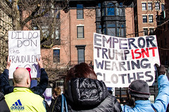 """Rally at Boston Common for Independent Investigation of Russian Ties to Trump Administration (Kristin """"Shoe"""" Shoemaker) Tags: protest rally boston massachusetts statehouse bostoncommon trump politics press puppet"""