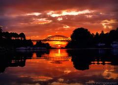 Sunset Duisburg Ruhrort Eisenbahnhafen (vszy) Tags: sunset duisburg ruhrgebiet ruhrort duisburgruhrort eisenbahnbrücke eisenbahnhafen reflection yansimalar reflections reflexions
