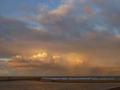 Happy Friday (enjbe) Tags: australia avocabeach sunset ocean beach sand lake cloud
