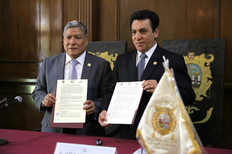 INEI Y LA UNIVERSIDAD NACIONAL MAYOR DE SAN MARCOS SUSCRIBIERON CONVENIO DE COOPERACIÓN INTERINSTITUCIONAL