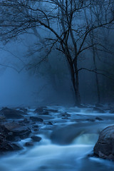 The Blue Hour at Welti (3) (joegilbreath) Tags: water falls welti cullman alabama steam mist fog bluehour creek