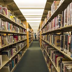 reading leading lines (Sally Harmon Photography) Tags: yellow leadinglines dogwood2017week16 dogwood2017 reading books library