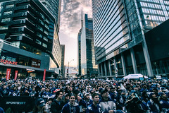The Crowd @ Maple Leaf Square (A Great Capture) Tags: agreatcapture agc wwwagreatcapturecom adjm ash2276 ashleylduffus ald mobilejay jamesmitchell toronto on ontario canada canadian photographer northamerica torontoexplore spring springtime printemps 2017 mapleleafsquare goleafsgo torontomapleleafs mapleleafs leafs fans acc aircanadacentre tmltalk seaofblue fanzone nhl playoffs hockey 10mm efs1018mm