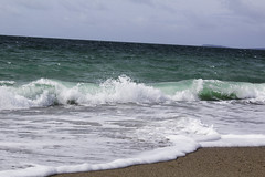 SeaBreeze (tiki.thing) Tags: beach sea sky wave green ocean shoreline coast ireland water seafoam sand wexford