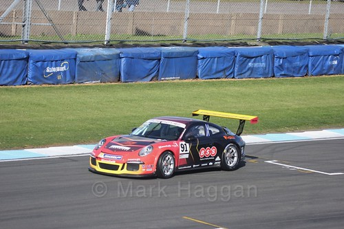 Daniel McKay in the Porsche Carrera Cup Race One during the BTCC Weekend at Donington Park 2017: Saturday, 15th April