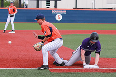 Triple (RPahre) Tags: triple thirdbase baseball illinois northwestern nu nwu ui northwesternuniversity universityofillinois urbana b1g bigten baserunner runner catch