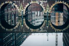 Hamburg in a Mirror (freyavev) Tags: hamburg germany deutschland water channel reflection reflections bridge arch impressionism urban urbandetails symmetry vsco canon canon700d mikasniftyfifty niftyfifty 50mm