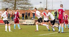 Delight for Alan Vezza after putting Bankies in front (Stevie Doogan) Tags: clydebank cumbernauld utd mcbookiecom west scotland league superleague first division holm park saturday 15th april 2017 bankies scottish juniors