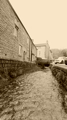 Stoney Middleton   April 2017   -   spring alongside The Nook (dave_attrill) Tags: nook sepia monochrome stoney middleton derbyshire peak district century village near eyam calver ancient highway limestone burning industry besom bootmaking candle roman settlement lord denman stream spring cottages architecture outdoor hope valley water stonework historic mid 17th april 2017 national park white lead mining mines domesday book