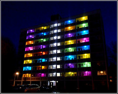 Hulls Porter Street Flats .. (** Janets Photos **) Tags: uk hull citycentres buildings flats art culture lights celebrations nighttimeshots