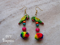 How to make boho earrings- 2 styles 9 (DIY Empress) Tags: diy earrings earringfashion boho bohemian bohoearrings fashion beautiful tutorial howto blogger inspiration make diyblogger girl girlboss happy parrot doll pompom smile colorful spark