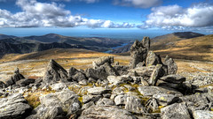 Looking Down To Llanberis (Mortarman101) Tags: wales mountains glyderau glyderfawr snowdonia hdr