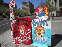 IMG_0150 (Sweet One) Tags: downtown phoenix dtphx arizona az usa handpainted signs trump politics