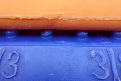 Detail of two plastic boxes #OrangeandBlue (kim.foto) Tags: macro macromonday boxes plastic orane blue orangeandblue
