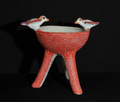 Mexican Pottery Oaxaca Incense Burner Mixtec (Teyacapan) Tags: copalero incensario mexico oaxacan pottery ceramics birds costa mixtec jamiltepec clay folkart