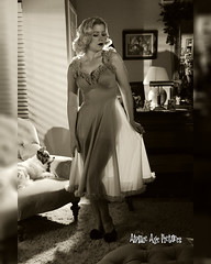 _MG_9705 8 x 10 (Atomic Age Pictures) Tags: jitterbugdoll amandalee atomicagepictures 1940s 1950s stockings legs sexylegs seethrough noir blackandwhite merry widow georgehurrell