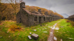 Anglesey Barracks (Lee~Harris) Tags: dinorwic quarry wales barrack cymru rugged architecture houses outdoor colour beauty love nikon d300 history historic abandoned ruin slate built rock house composition landcape landscapephotography sigma spring wideangle april stone structure
