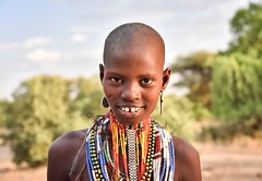 Abore Girl (Rod Waddington) Tags: africa african afrika afrique äthiopien ethiopia ethiopian ethnic etiopia ethnicity ethiopie etiopian omo omovalley outdoor portrait people abore tribe traditional tribal beads girl female candid