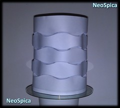 Cylinder Curved Paper Folding (4/4) (NeoSpica / NeoLiveArt) Tags: curved fold folding pleated origami papercraft geometric curvedfold curvedfolding structure lamp lantern paper curvedcrease design techniques corrugations hexagon cylinder tower
