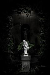Figure in the orangery (Boxertrixter) Tags: beltonhouse orangery figure foliage atmosphere dark lightanddark fujix100s xtrans lincolnshire nationaltrust fujifilm