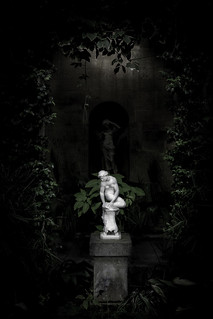Figure in the orangery