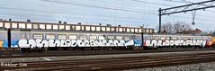 Painted Train (Akbar Sim) Tags: trein train graffiti holland nederland netherlands akbarsim akbarsimonse illegal