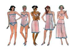 Vogue 9765 plus size lingerie (FindCraftyPatterns) Tags: vogue9765 women undergarments foundation lingerie sewingpattern fullslip camisole tappants teddy shorts halfslip sizelxl