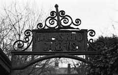 Dallas Road Gardens Lancaster UK (Man with Red Eyes) Tags: sign dallasroad gardens lancaster lancashire northwest f3p nikonf3p 50mmf18 kentmere400 pyrocathd semistand 11100 v850 homedeveloped analog blackwhite monochrome silverhalide film 35mm
