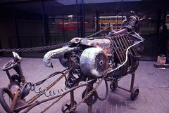 iron horse fourlane ends (rufazratz) Tags: foundobjects assemblagesculpture assemblage art scrapmetalsculpture sculpture sitespecific ironhorse