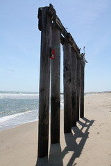 All that remains of the end of the pier (after Hurricane Sandy) (TheFairView) Tags: oceangrove beach jerseyshore