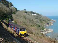 150263 & 150104 Carbis Bay (1) (Marky7890) Tags: gwr 150263 150104 class150 sprinter 2a24 carbisbay railway cornwall stivesbayline train